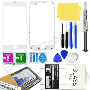 for White Apple iPhone 7 Front Outer LCD Screen Glass Lens Replacement kit