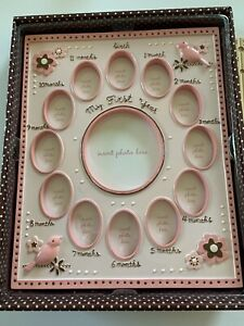 New pink baby frame For Girls Birds Flowers Beautiful And Fun By Baby Essentials
