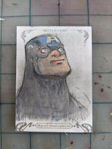 marvel masterpieces sketch card tou vue 1/1 Captain America