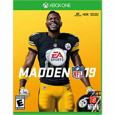 Madden NFL 19 - Microsoft Xbox One Factory New SEALED 4K Ultra HD Xbox Enhanced