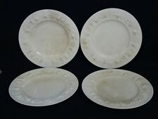 LOT of 4 ANTIQUE WEDGWOOD EMBOSSED QUEENSWARE DINNER PLATE 2768 ~ 10.75""