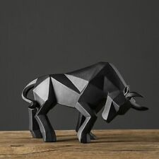 Resin Bull Statue Bison Sculpture Abstract Figurine Home Decoration Modern Decor
