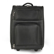 Black Easy Travel Holdall Trolley Luggage With Wheels Designer Bag - AGT0016