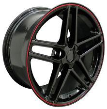 "17"" Wheels For Camaro Firebird years 1993 - 2002 17X9.5"" Black Rims Set (4)"