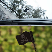 Black Jolly Roger Pirate Flag Car Antenna Pen Topper Aerial Ball Decor Toy top
