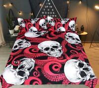 3D Octopus Skull ZHUA1712 Bed Pillowcases Quilt Duvet Cover Set Queen King Zoe
