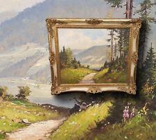 vista in ein estivo schwarzwaldtal. orig. dipinto a olio AUTOGRAFATO O. W.