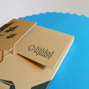 Cyan Origami Paper | 100 Sheets, 15cm Square | Pantone Process Cyan