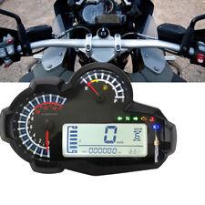 Universal Digital Motorcycle Speedometer 2/4 Cylinder 14000RPM Tacho Odometer 1x
