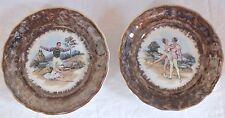 2 assiettes décoratives porcelaine décor danseur danseuse classique dancers
