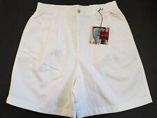 Gloria Vanderbilt Womens 10P Petite White Shorts Elastic Waist Pockets NEW Zip