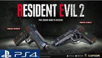 Resident Evil 2 Preorder DLC Gamestop Samurai Edge Chris & Jill, Ps4