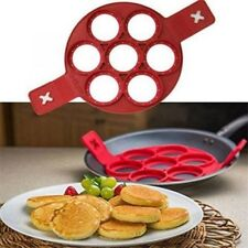 Fantastic Non Stick Flipping Pancake Maker Silicone Mold Egg Omelette Ring Maker