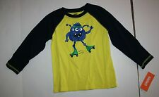 New Gymboree Roller Skate Monster Raglan Tee Top 18-24 M NWT Woodland Party