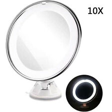 10X 360° Rotation Magnifying Makeup Mirror Cosmetic Beauty Vanity LED Lightup