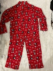 Disney Adult Pajama Set Mickey Christmas Pajamas L Men Or Women (Unisex)