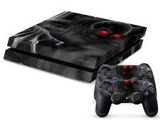 Sony PS4 Playstation 4 Skin Design Aufkleber Schutzfolie Set - Dark Skull Motiv
