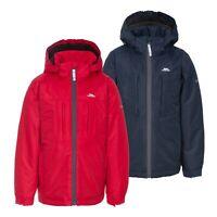 Trespass Nicol Boys Waterproof Jacket Sherpa Lined Rain Coat With Hood