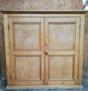 Antique Solid Pine Cupboard Cabinet