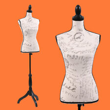 Female Mannequin Torso Designer Pattern Dress Form Display W/Black Tripod Stand