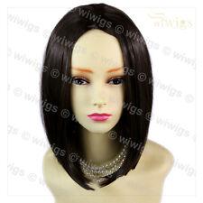 Wiwigs Amazing Medium Dark Brown Soft Face Framed Bob Skin Top Ladies Wig