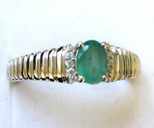 Men's Genuine Emerald Ring / size 12.75 / 925 Sterling Silver, 0.85cts, 5 grams
