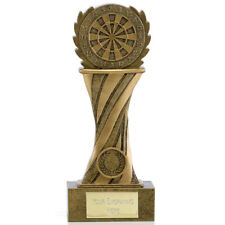 A1777C X 2 RESIN DARTS TROPHIES SIZE 21.5 CM FREE ENGRAVING