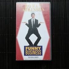 ROWAN ATKINSON PRESENTS FUNNY BUSINESS   - VHS