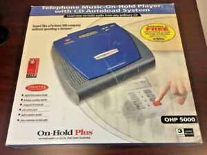 On-Hold Plus OHP 5000 Audio Player/Recorder CD Autoload System