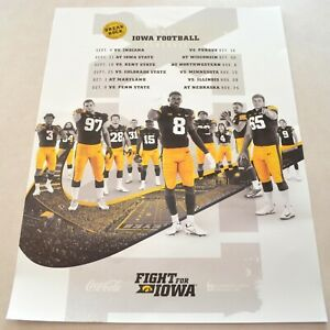 """2021 Iowa Hawkeyes Football Black & Gold Poster, Official Schedule, 18"""" x 24"""""""