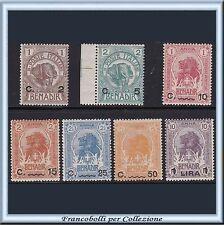 Colonie Italiane 1906-07 Somalia Elefanti & Leoni n. 10/16 Nuovi Integri **