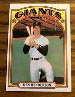 1972 TOPPS # 443 KEN HENDERSON - GIANTS