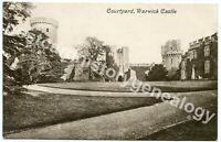 Vintage Warwick Castle Courtyard Postcard, Valentine's Series, Great Britain