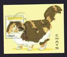 Chats Guinée (5) bloc oblitéré