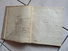 MANUSCRIT MARINE BATEAU 1884 PLANS MANUSCRITS PILOTAGE NAVIRE LA MOUETTE