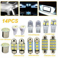 14x White LED Interior Package Kit For T10 36mm Map Dome License Plate Lights
