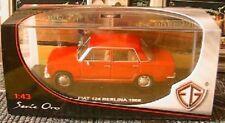 FIAT 124 BERLINA 1966 EDISON GIOCATTELI EG 1/43 ITALIA ROUGE ROSSO RED ROT