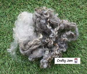 British Natural Mixed Curly Locks 3D Projects. Wet/Needle Felting Wool 20g