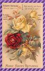 """CPA - Fantaisie Fleur """" Rose """""""