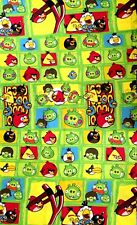 "Angry Birds Multi Characters Green Fabric - Cotton Blend - L98"" x W36"" inches"