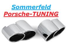 PORSCHE 996 Turbo CROMO Tequipment ottica doppio terminali di scarico Double Tail Pipe