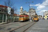 PHOTO  2012 LISBON PORTO TRAM CARMO TRAM NO 220 ON ROUTE NO 18 AND 213 ON ROUTE