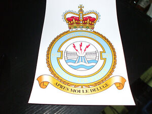 THE ROYAL AIR FORCE SQUADRON 617 CREST STICKER 7X5 INCH..