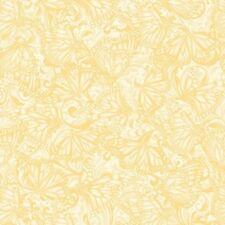 Benartex Hydrangea Blue by Jackie Robinson 3094 03 Light Yellow Butterfly Tonal