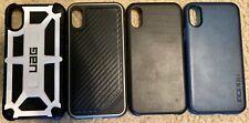 4 iPhone X Cases UAG Monarch White X-Doria Defense Carbon Fiber Incipio
