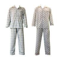NEW Men's Cotton Light Weight Pajamas Pyjamas PJs Set Two Piece Long Sleeve
