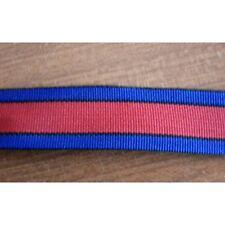 7048) metri 95 Nastro bratella a righe blu nero rosso cm 2,5 zaini borse cinture