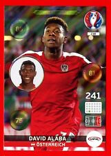 EURO FRANCE 2016 -Adrenalyn Panini- Card n. 238 - ALABA AUSTRIA - One to Watch