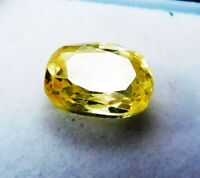 100% NATURAL 6.35 Cts Sri Lanka Yellow Sapphire unheated Gemstone. A 4375