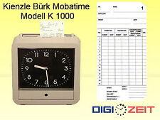 Stempelkarten für Kienzle Bürk  / K 1000 und Seiko QR 311 bis QR 412